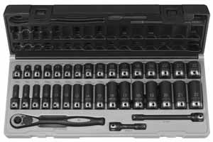 GRY-81635MRD 35pc. GP Duo Socket 3/8'' Drive Standard & Deep Length Metric Set