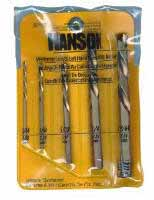 HAN-30520 Hanson 5 Pc. Metal Index Left Hand Screw Cobalt Drill Bit Set