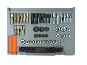 LNG-971 Lang 971 - 48 Pc. SAE and Metric Thread Restorer Kit