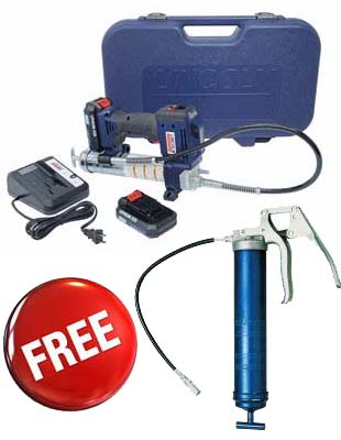LNI-1884 Lincoln 20V Lithium-Ion Powerluber Kit with Two Batteries