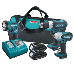 MKT-LXT311FHw/BL1830 Makita 18V Compact Lithium Ion Cordless 3pc. Combo Kit