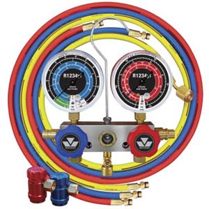 MST-83272 Mastercool 83272 R1234yf 2-Way Piston Valve Manifold Gauge Set