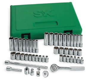 SKT-91848 SK 91848 48 Piece 6 Point SAE/Metric Socket Set
