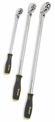 TIT-11075 Titan 3 pc Extra Long Flex Head Ratchet Set