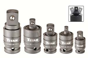 TIT-16150 Titan 16150 5pc. Pin Free Locking U-Joint Adapter Set