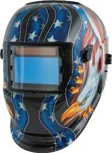 TIT-41265 Titan Solar Powered Auto-Darkening Welding Helmet Eagle/Flag