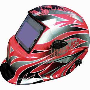 TIT-41267 Titan Solar Powered Auto-Darkening Welding Helmet Tribal Graphics