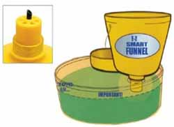 WIR-32015 Wirthco EZ Smart Drum Funnel With Cover & Extended Spout