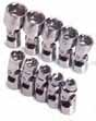 SKT-1335 SK repair Tools 1335 10 Pc. 1/4 Dr. 6 pt. 5-14mm Flex Socket Set