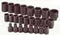 SKT-4037 SK 4037 25 Pc.1/2 Dr. 6 pt. Standard Metric Impact Socket Set