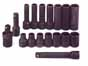 SKT-4050 SK 4050 17 Pc. 1/2 Dr. 6 pt. Standard and Deep SAE Impact Socket Set