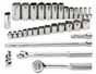 SKT-4532 SK 4532 32 pc. 3/8 Dr. 6 pt. Fractional Socket Set