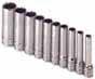 SKT-4950 SK 4950 10 Pc. 1/4 12 pt. Deep 3/16 - 9/16 Socket Set