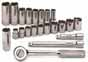 SKT-91820 SK 22 Pc. 3/8 Dr. 6 pt. Metric Socket Set W/Pro Ratchet/Extensions