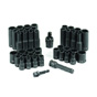 GRY-1243RD 3/8 Dr. Standard and Deep Set by Grey Pneumatic 1243RD 43 pc. 6 point